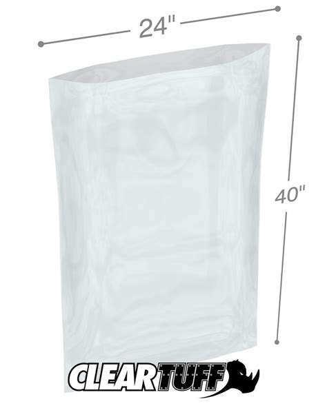 Polybag Polibag 40 X 40 24 quot x 40 quot 1 25 mil poly bags
