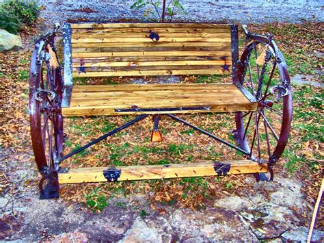 metal wagon wheel bench 17 best images about benches on pinterest barn wood