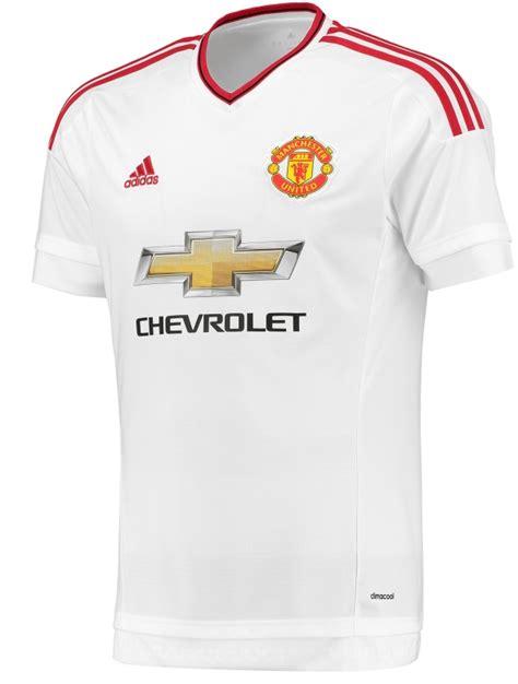 Jersey Mu Manchester Uniter New 20152016 new manchester united away kit 15 16 white mufc jersey 2015 2016 football kit news new