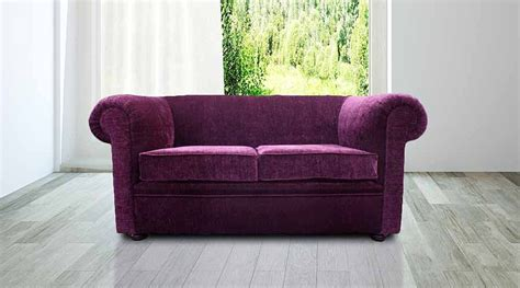 2 seater purple sofa designersofas4u buy aubergine fabric chesterfield sofa
