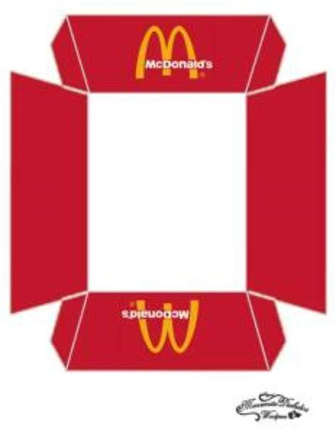 printable mcdonalds gift certificates 21 free printable gift box templates tip junkie