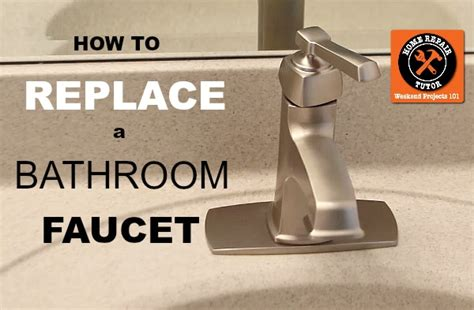 how to change a kitchen faucet how to replace a bathroom faucet home repair tutor