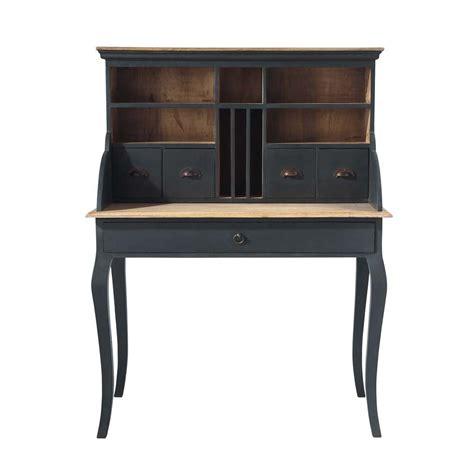 bureau de secr騁aire bureau secr 233 taire en bois noir l 102 cm chenonceau