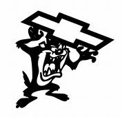 Taz Holding Chevy Symbol Sticker Decal Vinyl  EBay