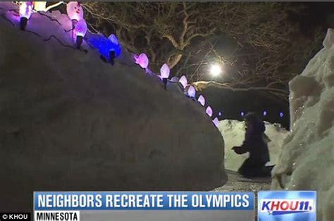 backyard luge forget sochi minnesota families build giant luge tracks