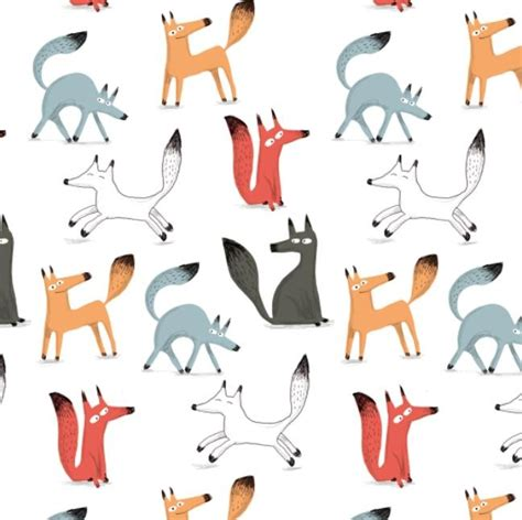 watercolor fox pattern 17 best images about illustration on pinterest