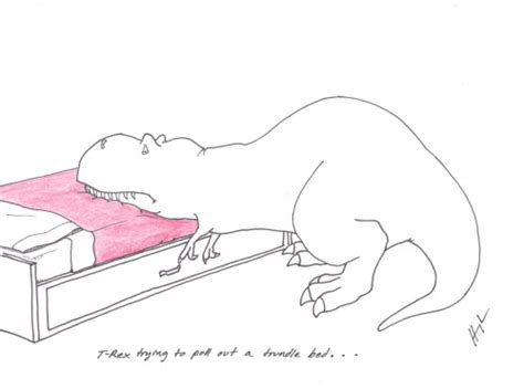 t rex trying to make a bed desventajas de ser un t rex taringa