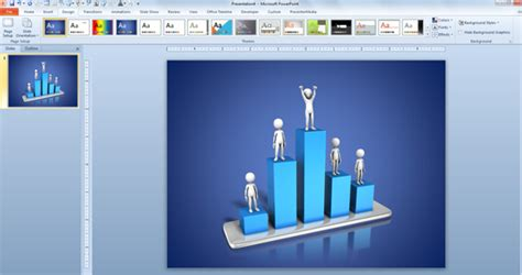 Awesome 3d Animated Charts For Business Presentations Free 3d Animation For Powerpoint