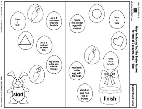 printable easter board games easter game board easter crafts learning activities