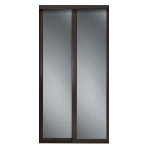 Mirror Sliding Closet Doors Home Depot by Contractors Wardrobe 60 In X 81 In Serenity Mirror