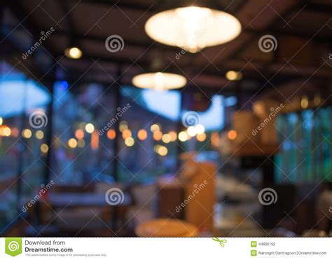 Coffee Shop Blur Background With Bokeh Stock Photo   Image: 44995192