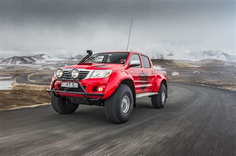 toyota hilux arctic going viking in iceland with an arctic trucks toyota hilux