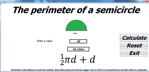 how to calculate perimeter how to calculate the perimeter of a semicircle in java