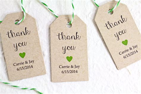 wedding tags personalized wedding favor tags kraft paper rustic by idotags