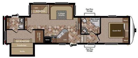 two bathroom rv 5th wheel rv 2 bathrooms floor plans rv sprinter copper canyon 292fwbhs fifth
