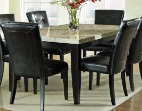 Steve Silver Monarch 7 Piece Marble Top 70x42 Dining Room