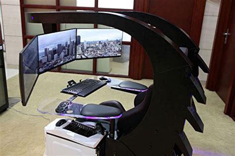 iwj gaming workstation  massage heating support  triple monitors