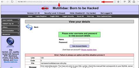 sql injection tutorial kali linux kali linux website penetration testing