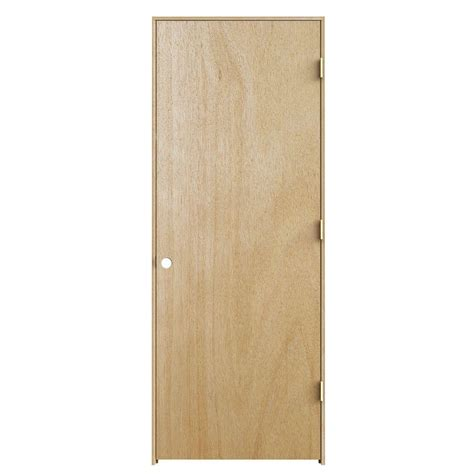 jeld wen woodgrain flush unfinished red oak single prehung jeld wen interior doors jeldwen 30 in x 80 in unfinished