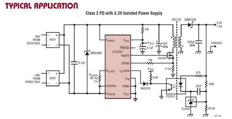 poe circuit diagram 48v poe to 12v converter page 1