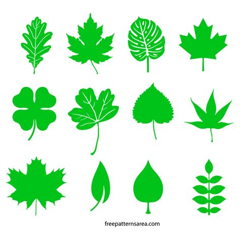 leaf pattern vector art leaf silhouette vectors and cut out templates