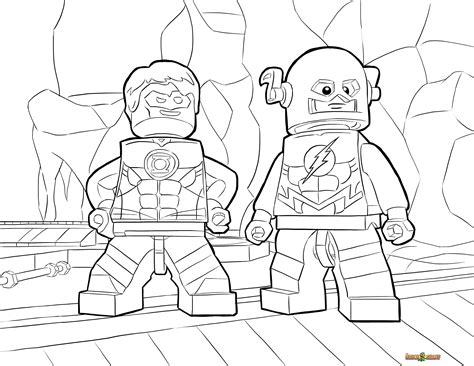 printable heroes how to print lego flash and green lantern coloring page printable