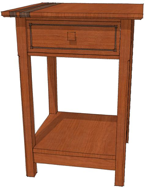 20 Inch Bedside Table Reusing Your Models Finewoodworking
