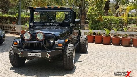 mahindra thar modified custom mahindra thar 6 wheel by grizzly motors modifiedx