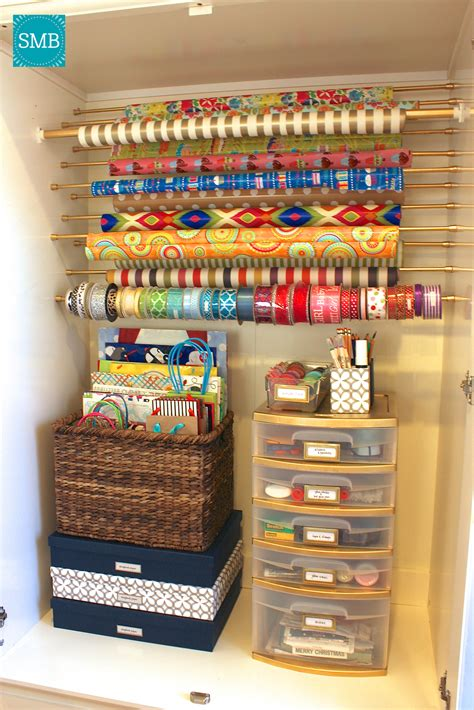 Gift Wrap Stores - diy wrapping paper organizer