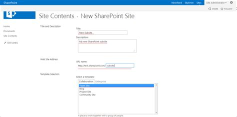 create sharepoint site template http ntiercodes 2016 05 24 creating site and sub site