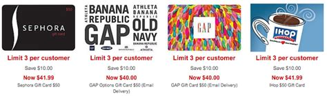 Staples Gift Card Sale - staples 50 sephora gift card only 41 99 50 gap or old navy egift card only 40