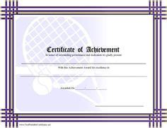 tennis certificate template 1000 images about tennis on certificate