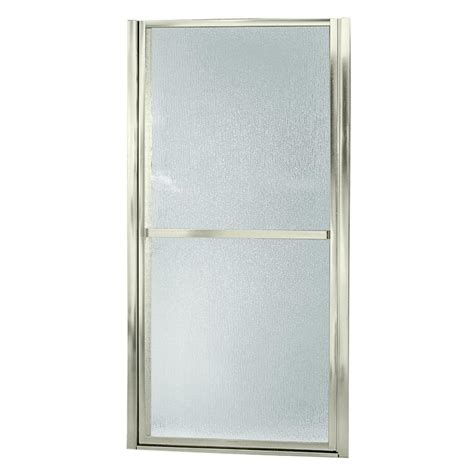 Sterling Shower Doors Parts Sterling Finesse 30 1 2 In X 65 1 2 In Framed Pivot Shower Door In Nickel 6506 30n The Home