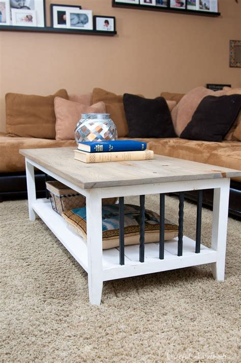 farmhouse coffee table build plans houseful  handmade