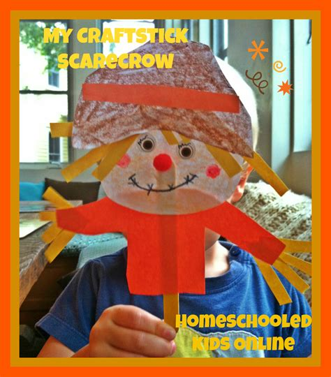 scarecrow crafts for magazine for homeschooled 187 craft stick scarecrow for