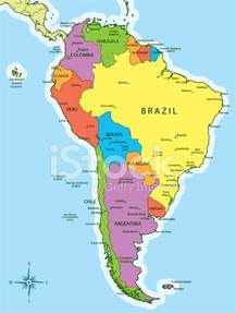 S America Map by South America Map Countries And Cities Stock Photos