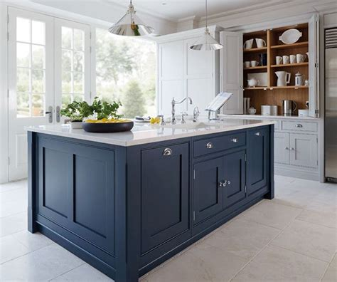 blue cabinets get the look blue and white kitchens dark blue kitchens