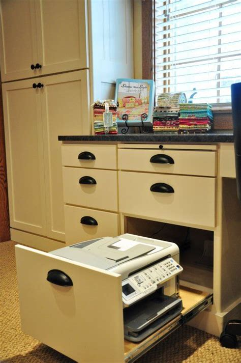 Desk With Printer Drawer by Printers Built In Desk And Desk Ideas On