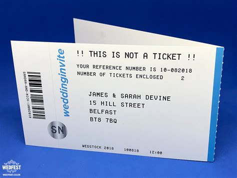 wedding invitations gig tickets concert ticket invitations wedfest