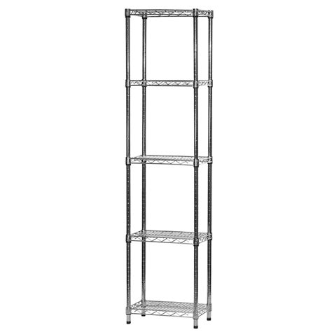 Bookcase With Bins 12 Quot D X 18 Quot W Chrome Wire Shelving Unit With 5 Shelves