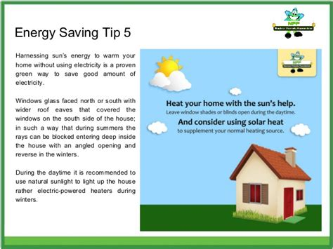 8 Tips For Home Energy Conservation by Energy Saving Tips