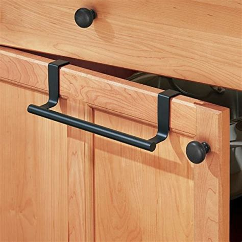 over the cabinet towel bar lowes mdesign over the cabinet towel bar holder for bathroom or
