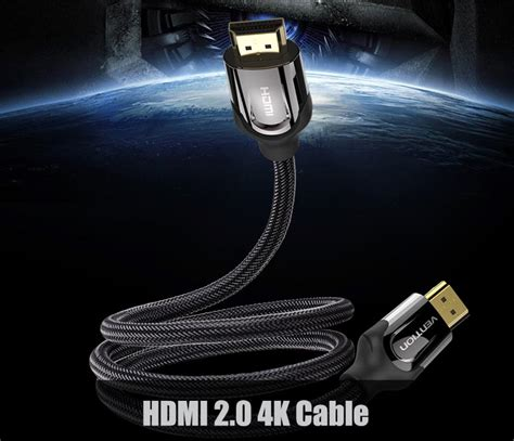 Vention Kabel Hdmi Ke 2 0 4k 60 Fps 300 Cm Hitam vention kabel hdmi ke hdmi 2 0 4k 60 fps 2m black