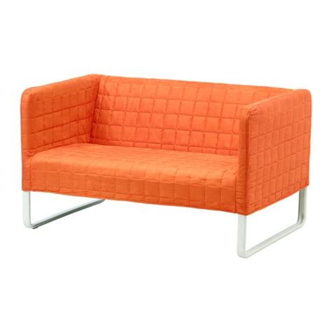 ikea divanetto knopparp 2 seat sofa orange ikea