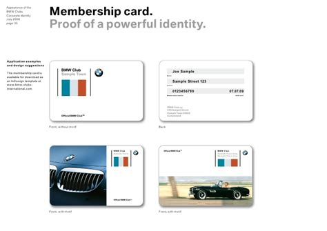 membership card template indesign bmw clubs design guidelines for appearance