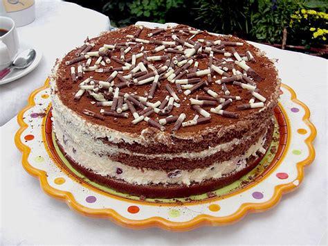 Schnelle Torten schnelle tiramisu torte mit kirschen rezept mit bild