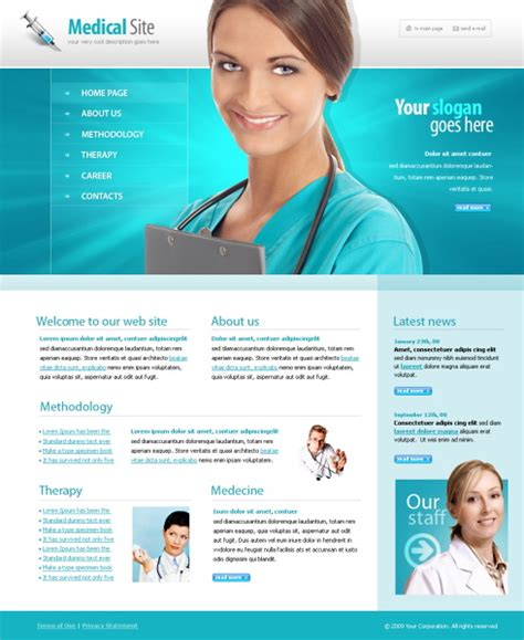 templates for medical website 5564 medical website templates dreamtemplate