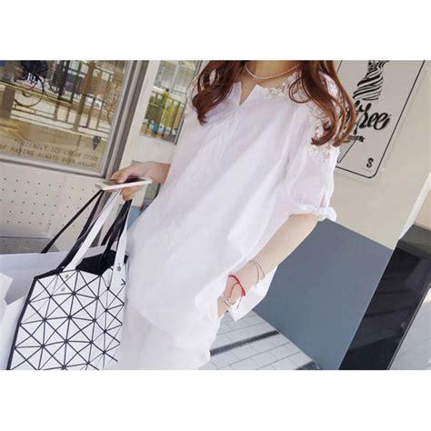 Blouse Fashion Wanita 44 blouse wanita korean style size m white jakartanotebook
