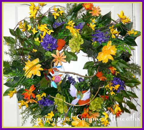 spring and summer wreaths for your front door artificial