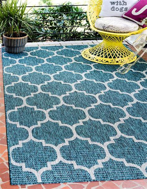 trellis outdoor rug teal 5 x 8 outdoor trellis rug area rugs esalerugs